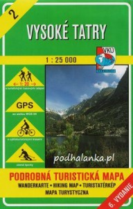 Tatry Wysokie - 2 - mapa VKU Harmanec ! 1:25 000 !